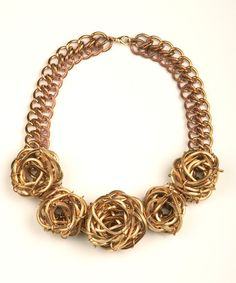 Nicole Romano rosette necklace
