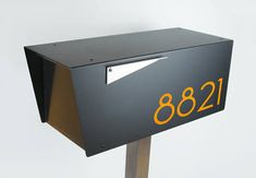 The Black Minimalist Modern Mailbox Anthony Post Mounted Locking Metal