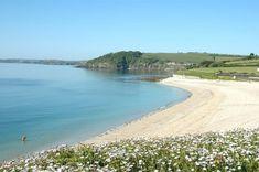 Gyllyngvase Beach in Cornwall