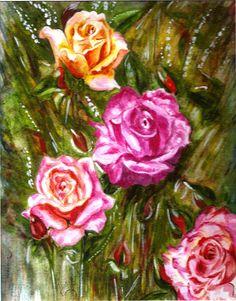 Landscape Painting - Roses by Harsh Malik