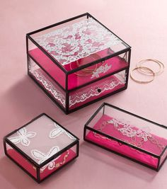 Antique Lace Jewelry Box