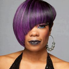 Purple asymmetric cut...loves it!
