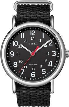 Timex Weekender Slip Thru Watch - Black-Watches-Accessories-MEN'S - Sport Chalet