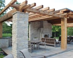 Patio Rustic Outdoor Fireplace Design, Pictures, Remodel, Decor and Ideas - page 280