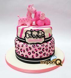 Torta baby shower animal print.mrponQ