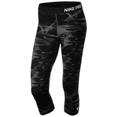 Nike Pro Capris - Women's - Black/Dark Grey/White