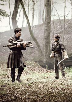 Gendry Waters and Arya Stark