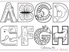 Color the animal alphabet.