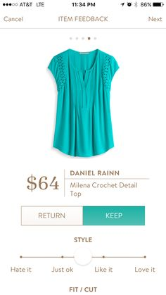 Stitch fix stylist: This is a super cute look! Love the color and style Daniel Rainn Milena crochet detail top