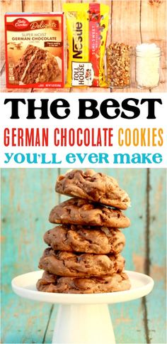 Easy German Chocolate Cake Mix Cookies Recipe Get Ready For Some Serious Coconut Pecan Heaven Easy German Chocolate Cake, Chocolate Cake Mix Recipes, Chocolate Cake Mix Cookies, Cake Mix Cookie Recipes, Brownie Cookies, Yummy Cookies, Cake Recipes, Cake Box Cookies, Cake Mix Brownies