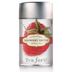 Tea Forte Loose Tea Canister Raspberry Nectar from BeautyOfASite Tea Canisters, Tea Tins, Raspberry Tea, Buy Tea, Thing 1, Loose Leaf Tea, Herbal Tea, Iced Tea, Gourmet Recipes