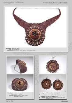 Eucalypto Nacklace, Bracelet & Earing; Terra Fu Macrame; Cuoio