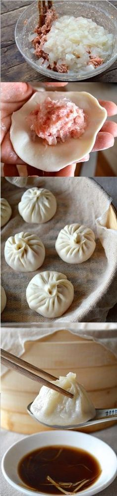 Steamed Shanghai Soup Dumplings.by The Woks of Life