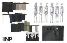 Fashion Sketchbook - fashion illustrations & fabric layout; fashion design portfolio // Nick Palmer