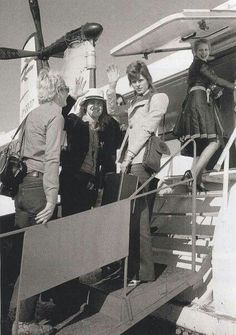 Bowie at Boulogne, boarding the hovercraft to Dover, May 1973