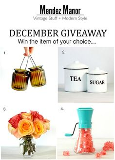 December Giveaway It