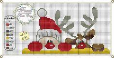 Peeking Santa and reindeer