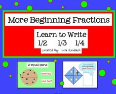 I use this smart board lesson after teaching about equal / not equal parts and introducing my students to fractions.