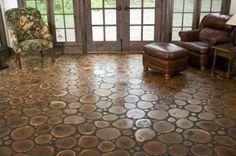 Unique wood flooring for sunroom