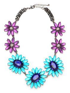 Blue Daisy Collar