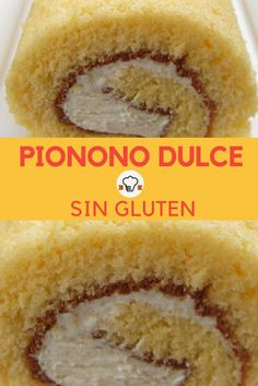 Pionono sin gluten: receta dulce y con apenas 3 in / Healthy Snacks For Kids, Healthy Sweets, Lactose Free, Vegan Gluten Free, Gluten Free Desserts, Gluten Free Recipes, Inflamatory Foods, Pan Dulce, Sans Gluten