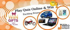 Jeeto Jackpot - Play free online Quiz games into several categories and win lot of prizes also Earn coins, so play to win exciting prizes. Test your Knowledge and win a couple Prizes Like Samsung Grand 2, Lenovo Tab, Bajaj Avenger and many more..... Why Wait try now!!!!! For more info visit @ http://www.jeetojackpot.com/