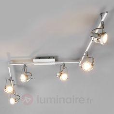 Agidio - Plafonnier LED blanc, 6lampes 9950559