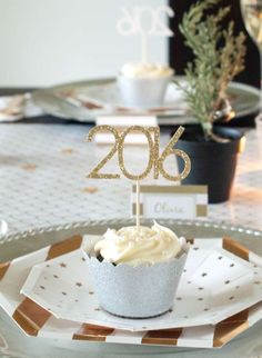 Silver and gold New Year's party! See more party planning ideas at CatchMyParty.com!