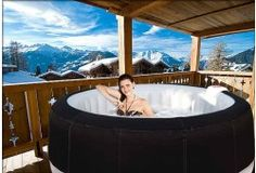 Jacuzzi gonflable on pinterest ground pools maison plain pied and carrelag - Jacuzzi 2 places exterieur ...