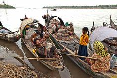 Pêcheurs cambodgiens à Kampong Cham