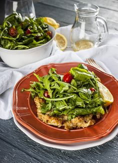 This baked chicken milanese has all the flavor but half the calories of the original
