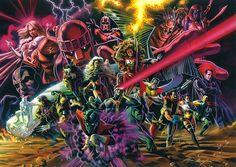 X-Men heroes and villains by Felipe Massafera