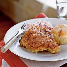 Buttermilk Oven-Fried Chicken with Coleslaw - 100 Easy Chicken Recipes - Cooking Light