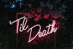 Neon Light Signs, Led Neon Signs, Love Neon Sign, Gothic Wedding, Dream Wedding, Fall Wedding, Punk Rock Wedding, Edgy Wedding, Pagan Wedding