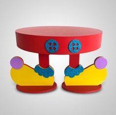 Suporte para doces Circo Shared Birthday Parties, Carnival Birthday Parties, Circus Birthday, Birthday Party Themes, Clown Party, Circus Theme Party, Cheap Party Decorations, Birthday Decorations, Clown Crafts