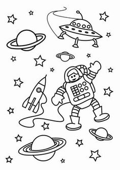 Space Coloring Pages for Preschoolers New Space Coloring Pages Printable Coloring Home Space Coloring Pages, Free Coloring Sheets, Coloring Pages For Kids, Drawing For Kids, Art For Kids, Solar System Crafts, Space Theme, Fun Activities For Kids, Printable Coloring