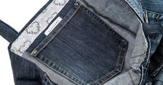 Ompeluohje: Farkkujen takataskusta sisätasku laukkuun