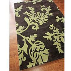 Love the brown and green. I want this for my master bedroom