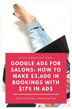Learn how to get lots of new clients and bookings for your salon through Google Ads! My guide shows you step by step how to set up an amazing Google Ads campaign for beauty businesses. Pay Per Click Marketing, Salon Promotions, Salon Business, Business Ideas, Salon Quotes, Ads Creative, Google Ads, Digital Marketing Strategy, Facebook Marketing