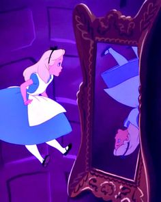 Alice and the backwards mirror