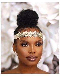 Wedding Makeup For Brown Eyes, Bridal Makeup Looks, Natural Wedding Makeup, Bride Makeup, Wedding Hair And Makeup, Hair Makeup, Black Makeup Artist, African American Makeup, Make Up Braut