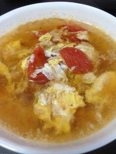 朝スープに♪トマトと卵の酸辣湯☆