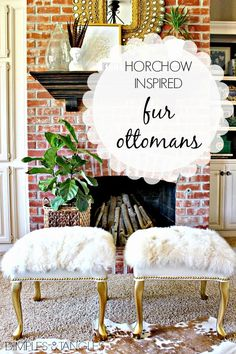 Dimples and Tangles: HORCHOW INSPIRED FUR OTTOMANS {SUMMER STYLE SOIREE}