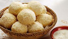 Pão de batata com Leite MOÇA, Leite NINHO coberto com parmesão