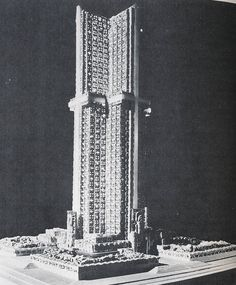 1931: project for a new catholic cathedral in Los Angeles - by Lloyd Wright, Frank Lloyd Wright's eldest son (covered in the 1976 book Unbuilt America by Alison Sky and Michelle Stone)