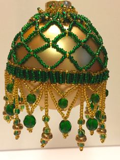 214. Beaded Ornament Cover