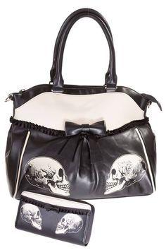 Banned Skull Handbag & Purse