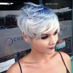 Cute blonde pixie
