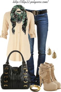 """Black and Beige"" by dlp22 on Polyvore"
