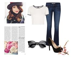 Shine Your Way by jeehy on Polyvore featuring moda, Topshop, Jessica Simpson and Language Of Flowers